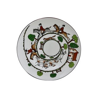 English Hunting Scene Cake / Bread Plate For Sale