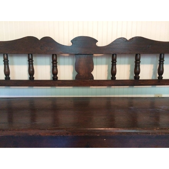 Antique European Hall Bench With Storage - Image 4 of 8