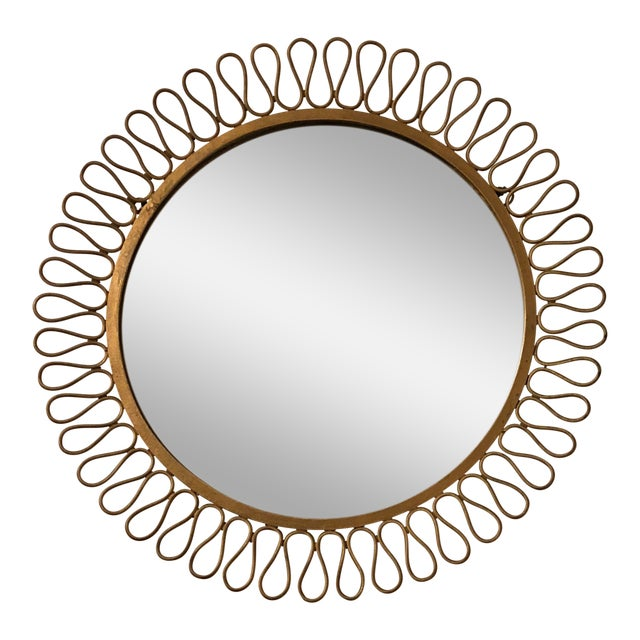 Mid Century Modern Salterini Ribbon Mirror For Sale