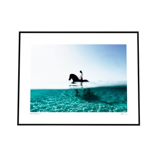 'Hippocampus' Print Photography on Rag Paper with White Border by Enric Gener Framed in Black For Sale