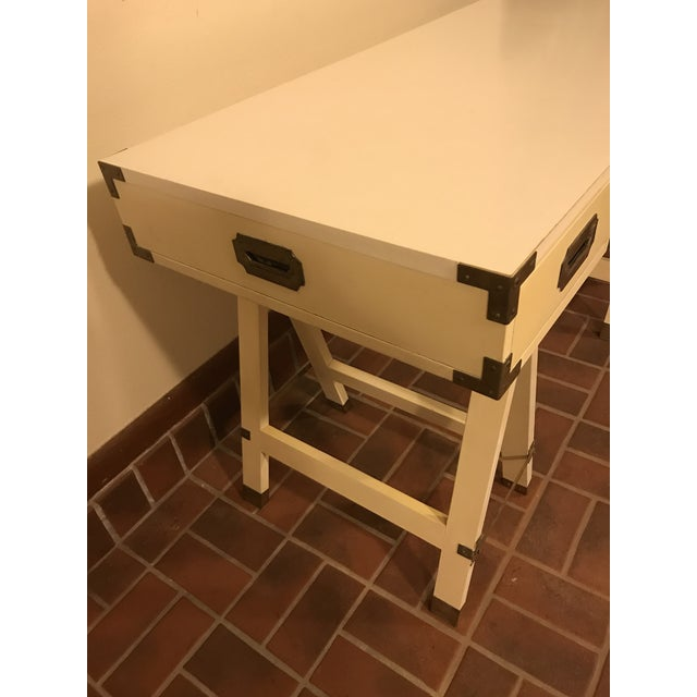 Mid-Century Modern 1970s Bernhardt Campaign Writing Desk For Sale - Image 3 of 5