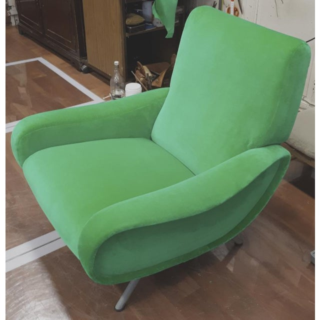 "Mid-Century Modern Marco Zanuso Pair of Model ""Lady"" Arm Chair For Sale - Image 3 of 8"