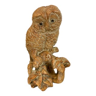 California Pottery Owl Figurine For Sale