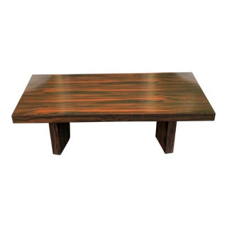 Modern Designer Art Deco Style Macassar Exotic Ebony Coffee Table For Sale