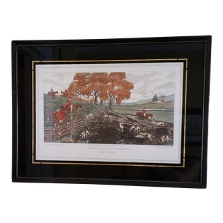 """Edward King American Hunting Scenes """"The Check"""" Print For Sale"""