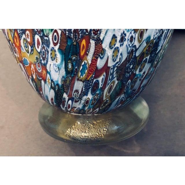 Early 21st Century Venetian Blown-Glass Millefiori Vase For Sale - Image 5 of 9