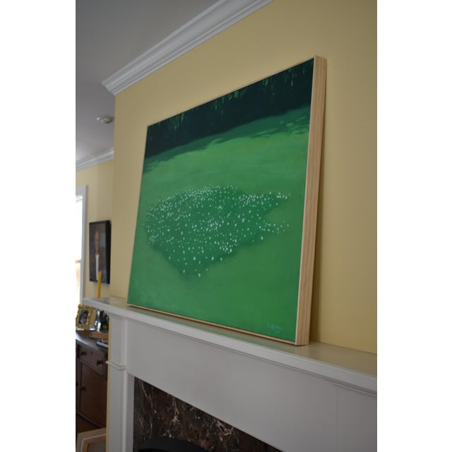 "Green ""Patch of Clover"", Contemporary Painting by Stephen Remick For Sale - Image 8 of 11"