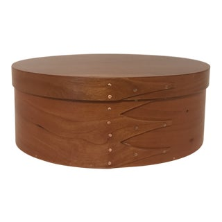 Shaker Oval Cherry Wood Box With Lid For Sale