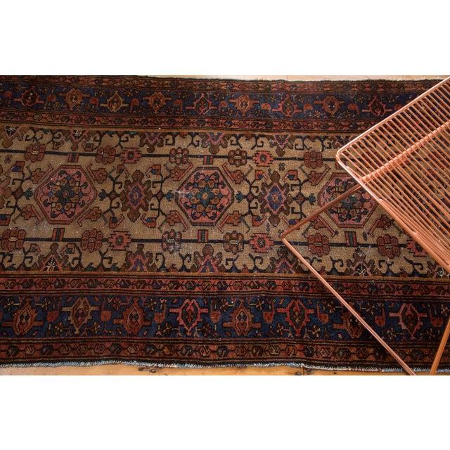 "Vintage Persian Hamadan Rug - 3'5"" X 6'4"" - Image 3 of 6"