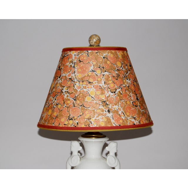 Neoclassical Lamp W/ Marble Lampshade - Image 3 of 5