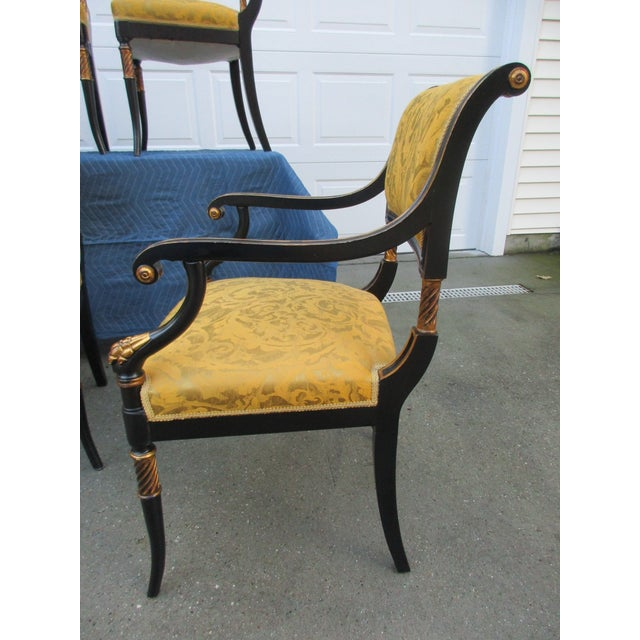 Asian Antique Chinoiserie Regency Style Dining Chairs - Set of 8 For Sale -  Image 3 - Antique Chinoiserie Regency Style Dining Chairs - Set Of 8 Chairish