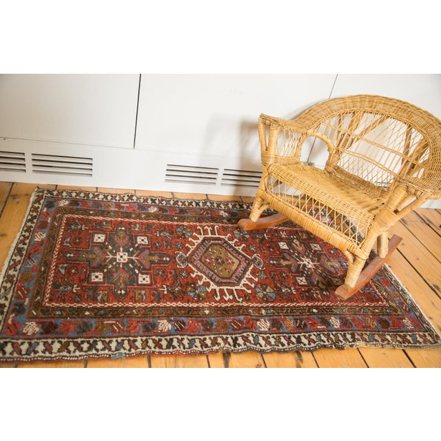 "Vintage Persian Karaja Rug - 2'4"" X 4' - Image 2 of 7"