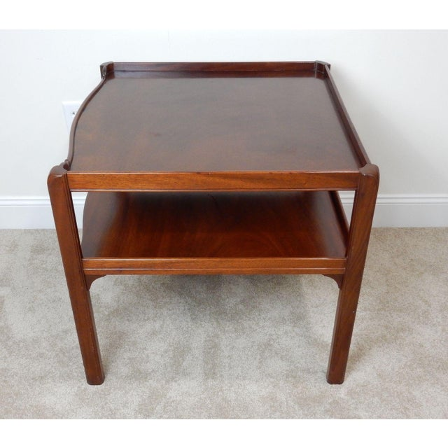 Baker Furniture Large 2 Tier Mahogany Table - Image 7 of 11