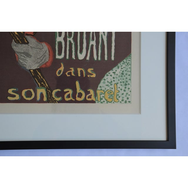 "Yellow Framed Lithograph Print ""Aristide Bruant - Ambassadeurs"" by Henri De Toulouse-Lautrec For Sale - Image 8 of 13"