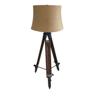 Pottery Barn Farmhouse Style Tripod Floor Lamp For Sale
