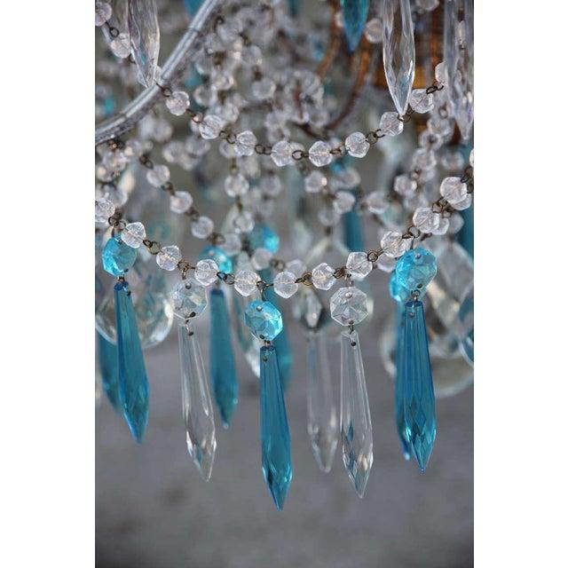 Italian Italian Crystal Beaded Chandelier $3,400 For Sale - Image 3 of 9