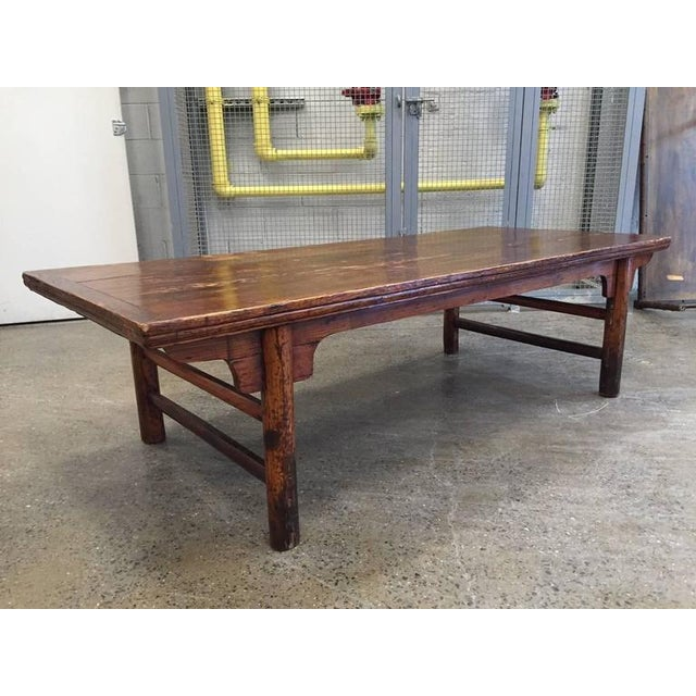 Antique Chinese Huanghuali hardwood table with a very nice patina and original wear.