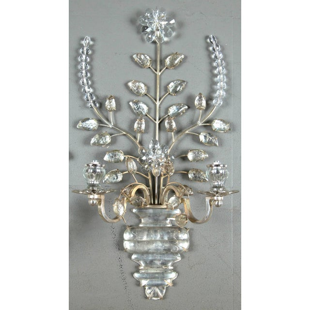 Metal 1930s French Silver Plated Sconces - a Pair For Sale - Image 7 of 8