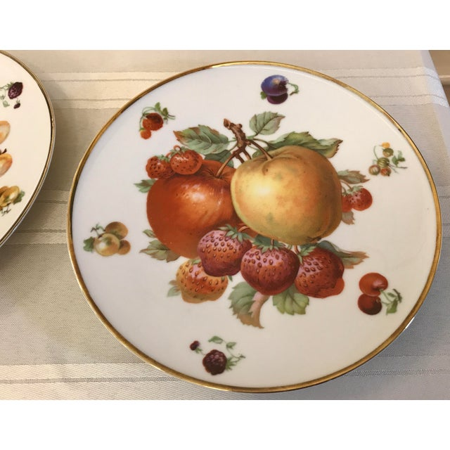 1930s 1930's German Bavarian China Fruit Plates - a Pair For Sale - Image 5 of 6