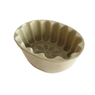 Antique Lovatt's Langley Ware England Large Tan Stoneware Pudding Jello Kitchen Mold For Sale