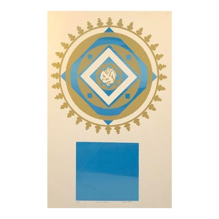 Diamond Sutra Lithograph by Stephen Ehret 1970s For Sale