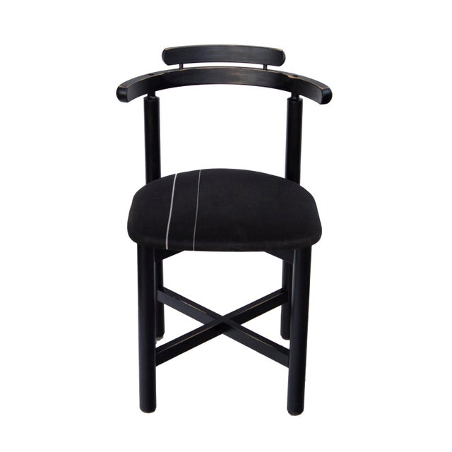 Gangsø Møbler Set of 3 Danish Dining Chairs With Striped Seats For Sale - Image 4 of 12