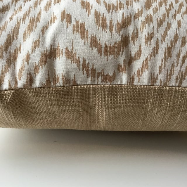 Neutral Tiger Stripe Pillow For Sale In Washington DC - Image 6 of 10