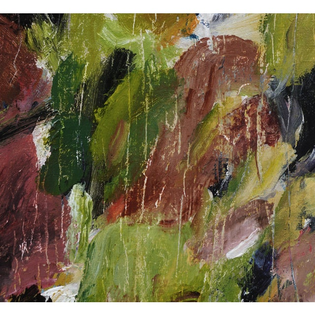 """Laurie MacMillan Laurie MacMillan """"Natural Progression"""" Abstract Painting, Framed For Sale - Image 4 of 6"""