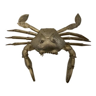 Antique Silver Articulated Crab Box For Sale