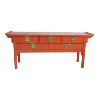 Asian Modern Style Century Pagoda Console For Sale