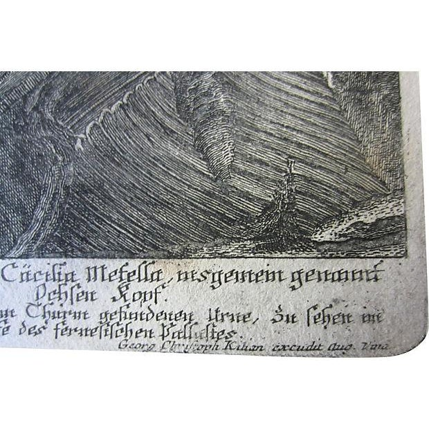 Rustic Greek Ruins Antique Etching C.1759 For Sale - Image 3 of 3