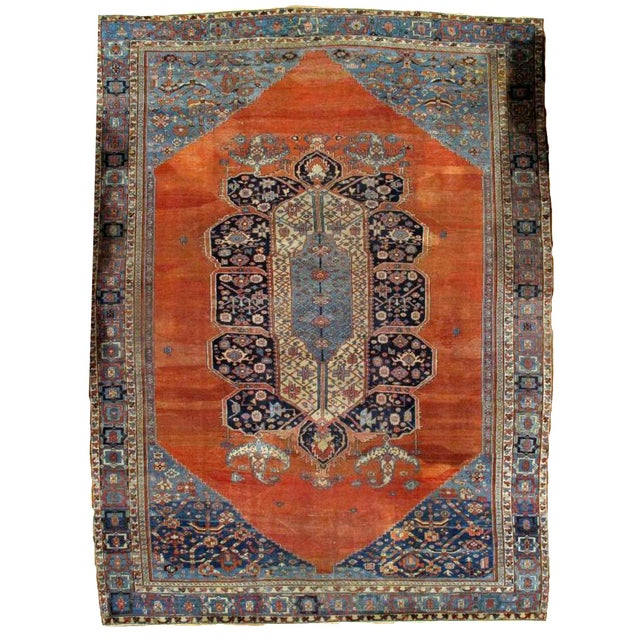 1880s, Handmade Antique Persian Bakshaish Rug 11' X 15.7' For Sale - Image 10 of 10
