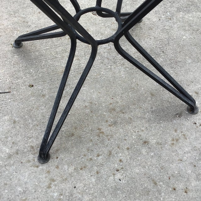 20th Century Salterini Tempestini Wrought Iron Dining Patio Table Last Call For Sale In Cleveland - Image 6 of 9