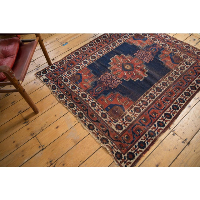 """Islamic Antique Fine Afshar Rug - 4'3"""" x 5'2"""" For Sale - Image 3 of 13"""