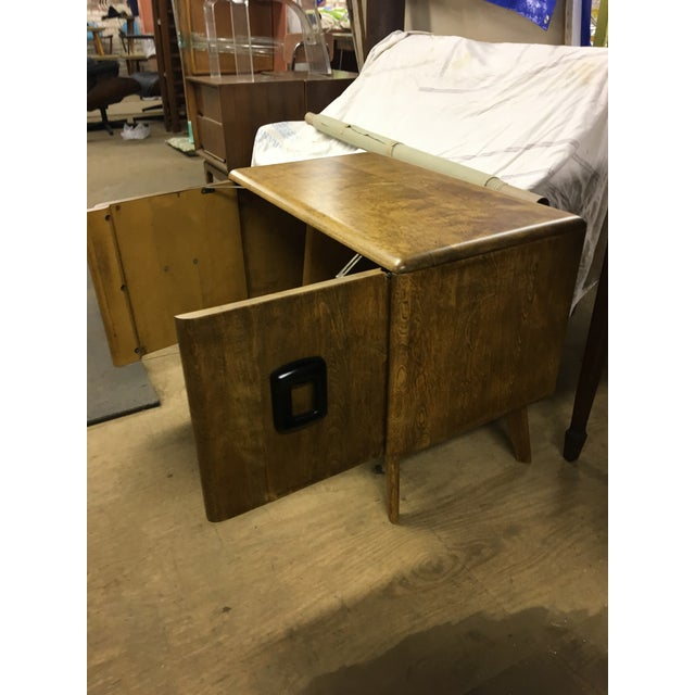 Heywood Wakefield Mid Century Modern Record Cabinet For Sale - Image 4 of 6