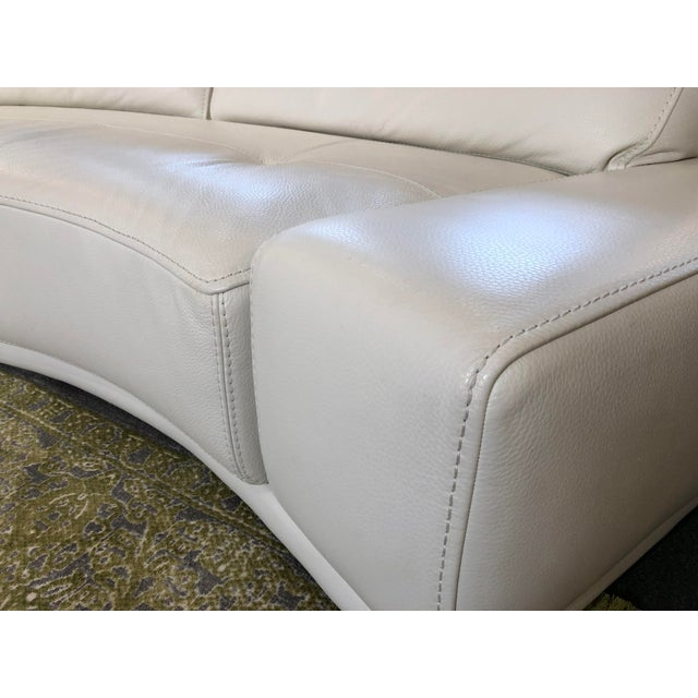 White Solstice Curved Sectional + Ottoman From Roche Bobois For Sale - Image 8 of 12