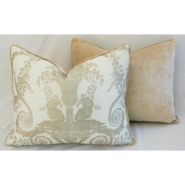 Custom Italian Fortuny Lamballe Pillows - Pair - Image 11 of 11