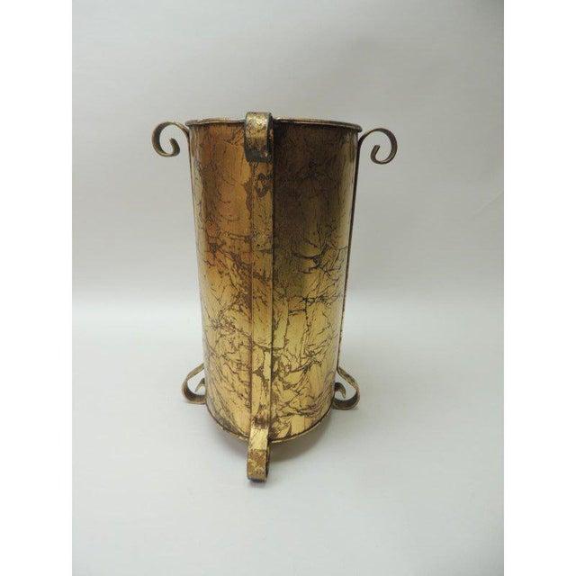 Gold Vintage Oval Waste Basket For Sale - Image 4 of 7
