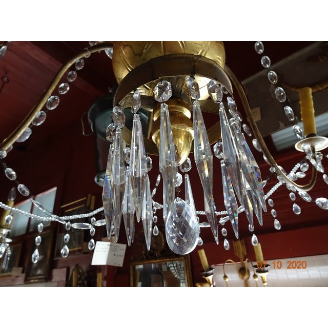 Italian 19th Century Italian Crystal Chandelier For Sale - Image 3 of 13