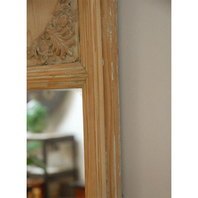 Brown 1820s French Directoire Pine Trumeau Mirror For Sale - Image 8 of 11