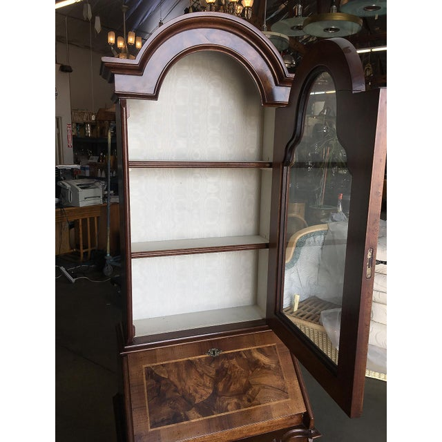 1980s Modern Neo Classic Rococo Curio Display Case & Secretary Desk For Sale - Image 5 of 9