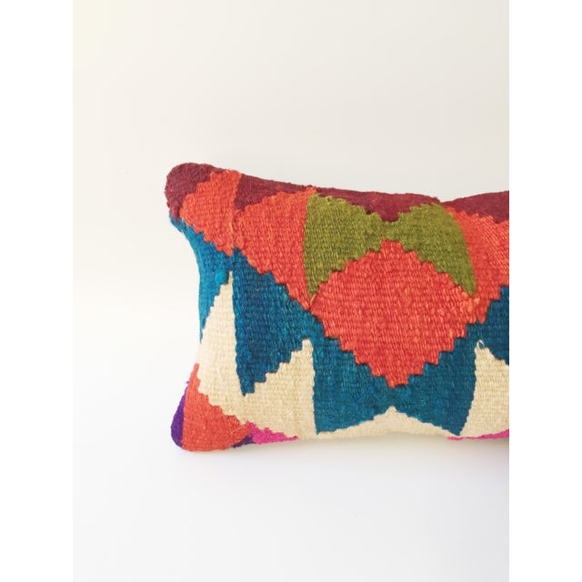 Vintage Kilim Lumbar Pillow - Image 3 of 5