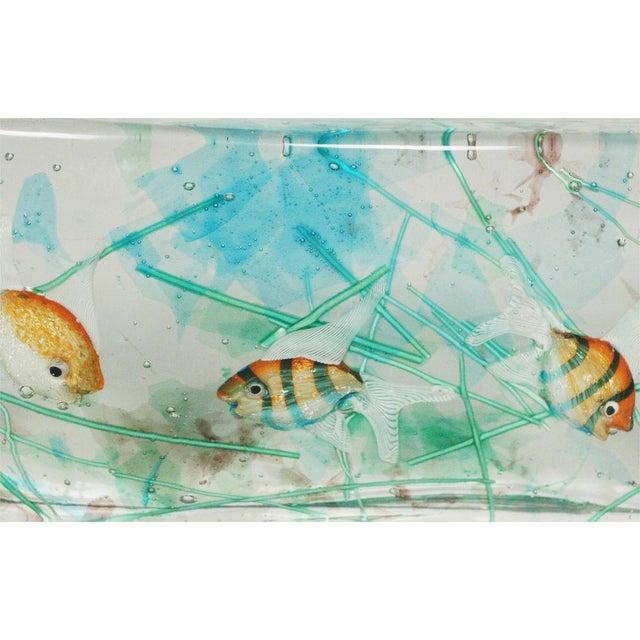 Alfredo Barbini Cenedese Glass Fish Blocks - a Pair - Image 6 of 7