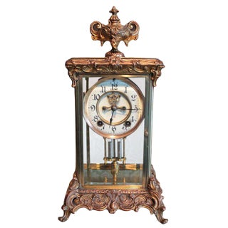 Ansonia Crystal Regulator Clock