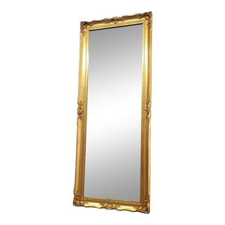 French Victorian Style Gold Wall Mirror For Sale