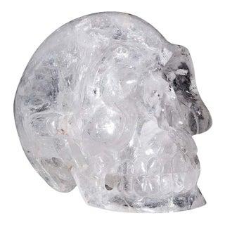 Large Quartz Rock Crystal Skull Sculpture For Sale