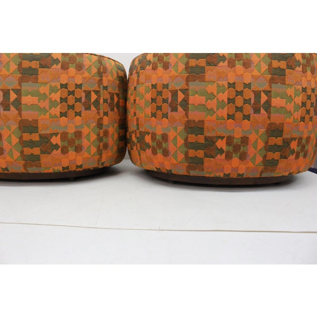 Mid Century Modern Flair -Bernhardt Pair of Upholstered Chairs For Sale - Image 10 of 13