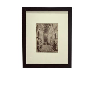 Antique Photograph of the Cathedral Saints Michel and Gudule For Sale