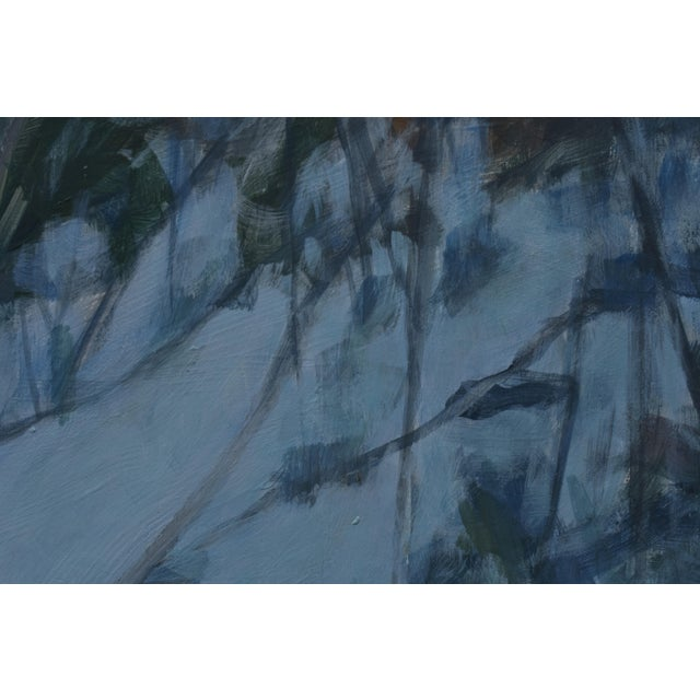 """2010s Stephen Remick """"Dusk in Winter by the Brook"""" Painting For Sale - Image 5 of 9"""