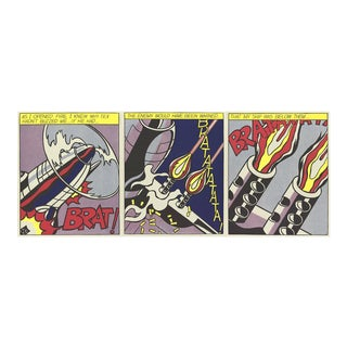 Roy Lichtenstein-As I Opened Fire (Triptych)-1997 Poster For Sale